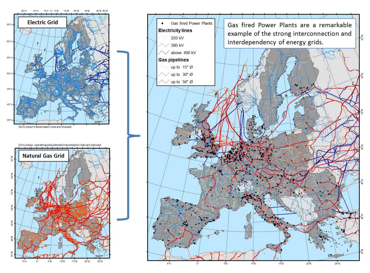 Gas and power modelling jrc smart electricity systems and as depicted in the map data source platts and jrc databases gas fired power plants are a remarkable example of the strong interconnection and gumiabroncs